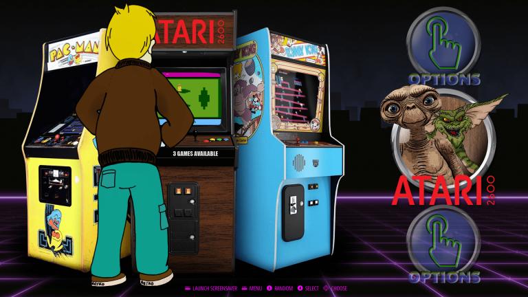 Bart Simpson Playing Atari 2600 in Arcade