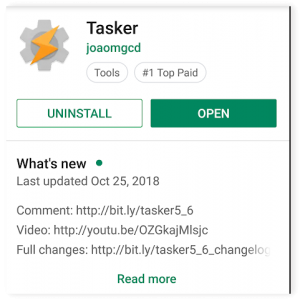 Google Play Tasker Page