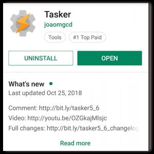 Google Play Tasker Page