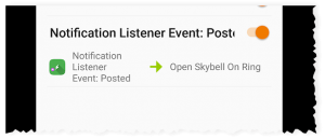 Notification Listener Event