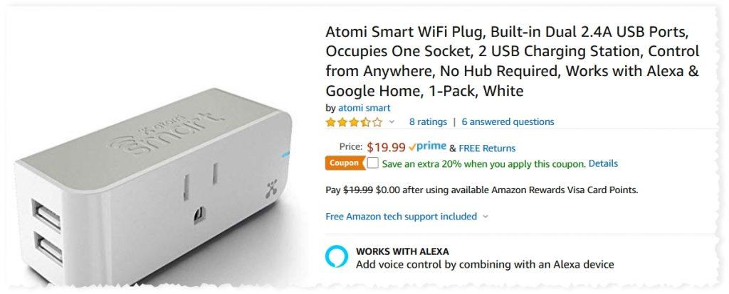 Atomi Smart Wifi Plug