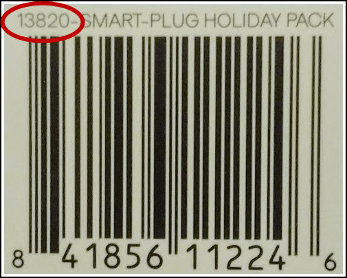Atomi Plug Bar Codes