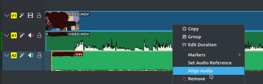 KDENLive Audio Tracks