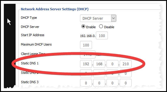 DDWRT DHCP Router Settings