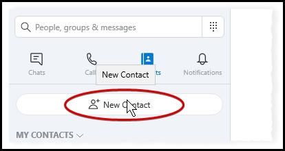 Skype Add Contact Button